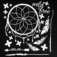 49 and Market 6 x 6 Chipboard Sets - Wild & Free White