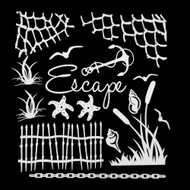 49 and Market 6 x 6 Chipboard Sets - Escape White