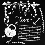 49 and Market 6 x 6 Chipboard Sets -Love White