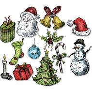Sizzix Framelits Dies By Tim Holtz - Tattered Christmas