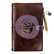 Prima Marketing Travel Journal Leather Essential - Mocha Brown