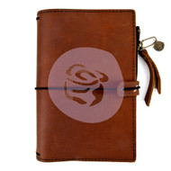 Prima Marketing Travel Journal Leather Essential - Rust Brown