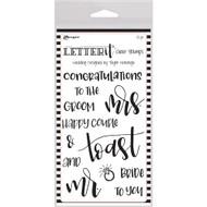 Ranger Letter It Clear Stamp 4 x 6 - Wedding (LEC59332)