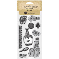 Graphic 45 - Portrait Of A Lady - Cling Stamp Set 2