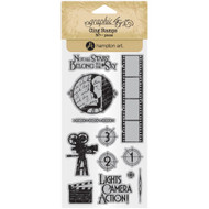 Graphic 45 - Vintage Hollywood - Cling Stamp Set 1 (ICO377)