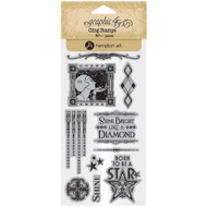 Graphic 45 - Vintage Hollywood - Cling Stamp Set 2 (ICO378)
