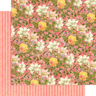 Graphic 45 Floral Shoppe - 12 x 12 Pink Lilies