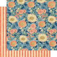 Graphic 45 Sun Kissed - 12 x 12 Floating Floral