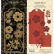 Graphic 45 Staples Large Tag, ATC Tag & Flower Die
