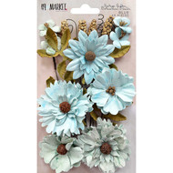 49 and Market Flowers - Vintage Shades Botanical Blends – Blue