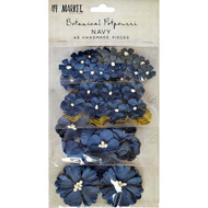49 and Market Flowers - Vintage Shades Potpourri – Navy