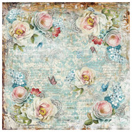 Stamperia - Rice Paper Napkin - White Roses and Gearwheels