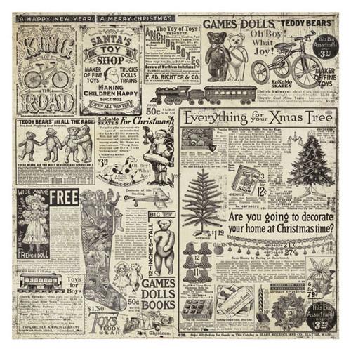 Stamperia - Rice Paper Napkin - Christmas Vintage