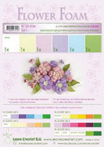 LeCrea Design Flower Foam Sheet Set - Pastel