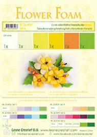 LeCrea Design Flower Foam Sheet Set - Yellow