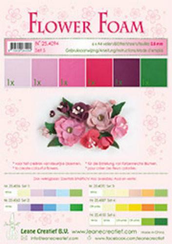 LeCrea Design Flower Foam Sheet Set - Red/Pink