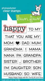 Lawn Fawn Happy Happy Happy Add-On Family Stamp Set (LF1585)