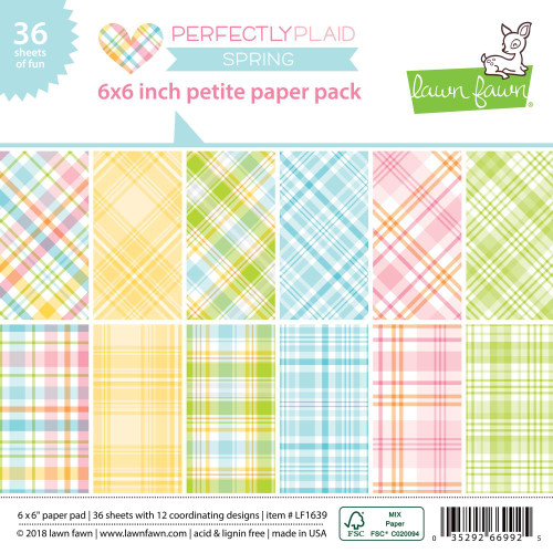 Lawn Fawn Perfectly Plaid Spring Petite Paper Pack 6 x 6 (LF1639)