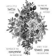 Tim Holtz Cling Rubber Stamp - Glorious Bouquet (CMS325)