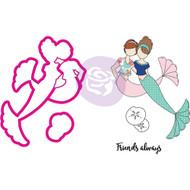 Prima Marketing - Julie Nutting Stamp & Die - Mermaid Kisses Besties