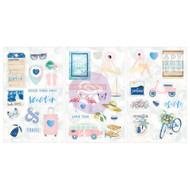 Prima Marketing - Santorini - Chipboard Stickers