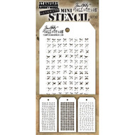 Tim Holtz Mini Layering Stencil - Set 33