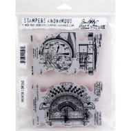 Tim Holtz Cling Rubber Stamp - Inventor 1 (CMS340)