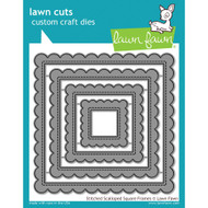 Lawn Fawn Stitched Scalloped Square Frames Lawn Cut (LF1720)