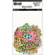 Dyan Reaveley's Dylusions Creative Dyary Die Cuts - Colored Birds & Flowers