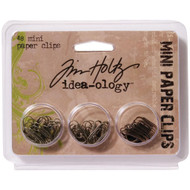 "Tim Holtz Idea-Ology Mini Paper Clips .625"" 48/Pkg (TH92791)"