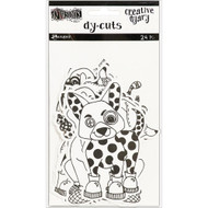 Dyan Reaveley's Dylusions Creative Dyary Die Cuts - Black & White Animals (DYE58557)