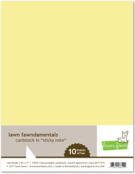 Lawn Fawn - 8.5x11 Cardstock - Sticky Note (LF1373)