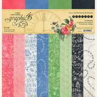 Graphic 45 - Flutter - 12 x 12 Patterns & Solids Paper Pad