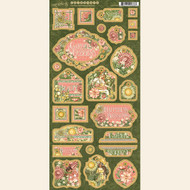 Graphic 45 - Garden Goddess - Decorative & Journaling Chipboard