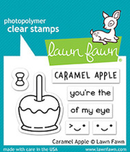 Lawn Fawn Caramel Apple Clear Stamp (LF1759)