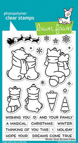 Lawn Fawn Winter Skies Clear Stamp