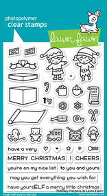 Lawn Fawn Holiday Helpers Clear Stamp