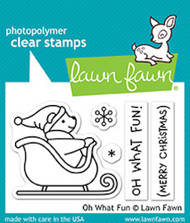 Lawn Fawn Oh What Fun Clear Stamp