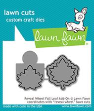 Lawn Fawn Reveal Wheel Fall Leaf Add-On Lawn Cuts