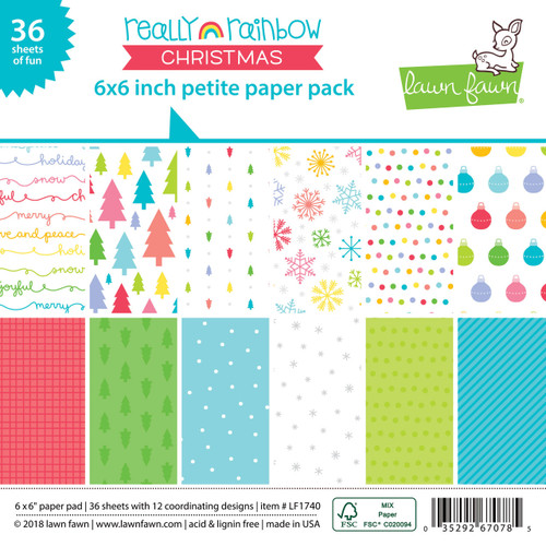 Lawn Fawn Really Rainbow Christmas Petite Paper Pad