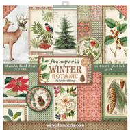Stamperia - 12 x 12 Paper Pad - Winter Botanic