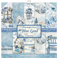 Stamperia - 12 x 12 Paper Pad - Blue Land