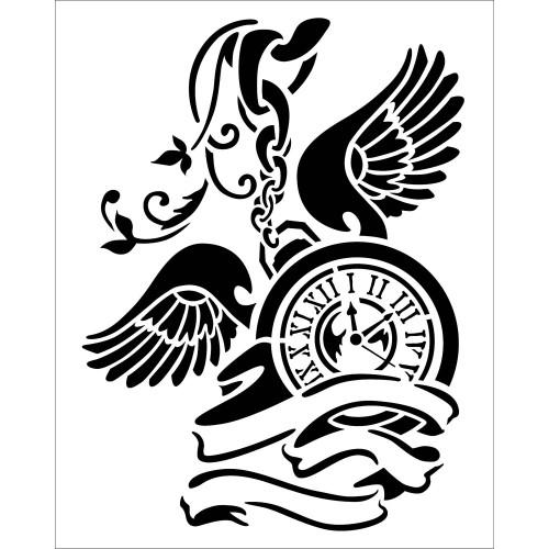 Stamperia - Stencil - Pendulum Clock W/Wings