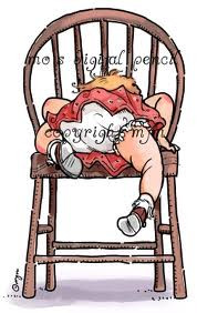 Mo Manning BIG CHAIR GIRL -  by Stamping Bella