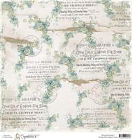Magnolia Stamps 12 x 12 Vintage English Blue Soap
