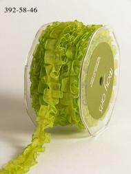 Sheer Box Pleat - Parrot Green