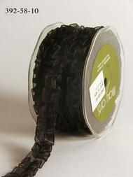Sheer Box Pleat - Black