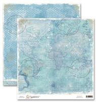Magnolia 12 x 12 Paper - Sea Breeze - MYTHICAL OCEAN