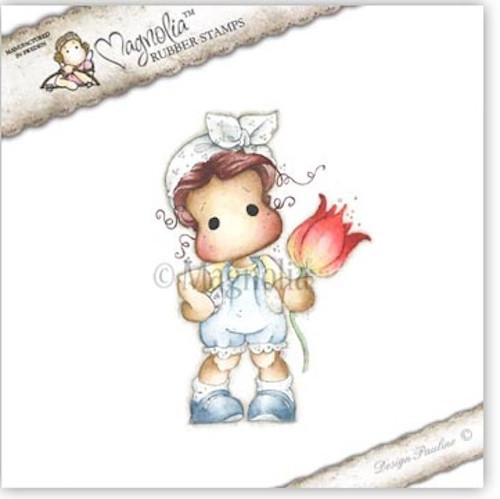 MAGNOLIA STAMPS - FLOWER TILDA WITH BOWKNOT