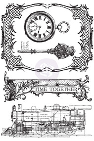 Prima Marketing - Time Traveler's Collection - Cling Stamps